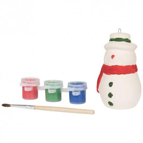 Peindre un bonhomme de neige