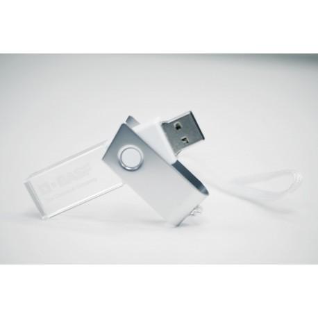 Clé USB rotative cristal