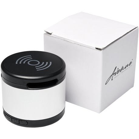 Haut-parleur Bluetooth® Jones métallique avec tapis de charge sans fil